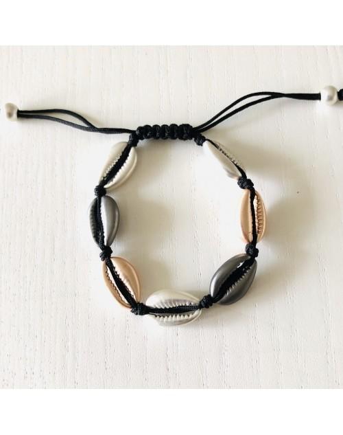 Bracelet coquillages réglable