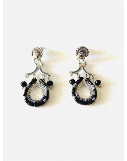 Boucle pendante perle fantaisie